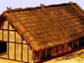 rys.1 - wizualizacja domu z epoki neolitu