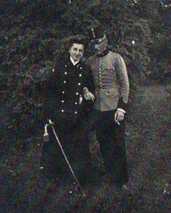 Stefan Dunikowski z żoną Marią