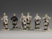 Figurki górników, Miśnia porcelana, ok. 1750 r.'